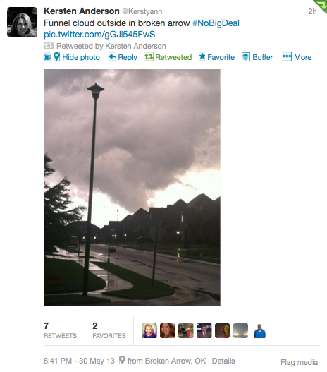 Tornado tweet goes viral
