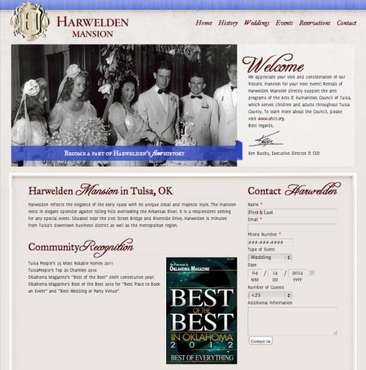 Old Harwelden Mansion Website