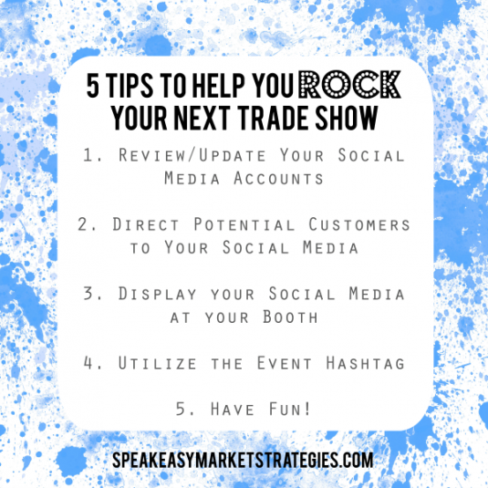 5 Tips to help you rock your next trade show cheat sheet