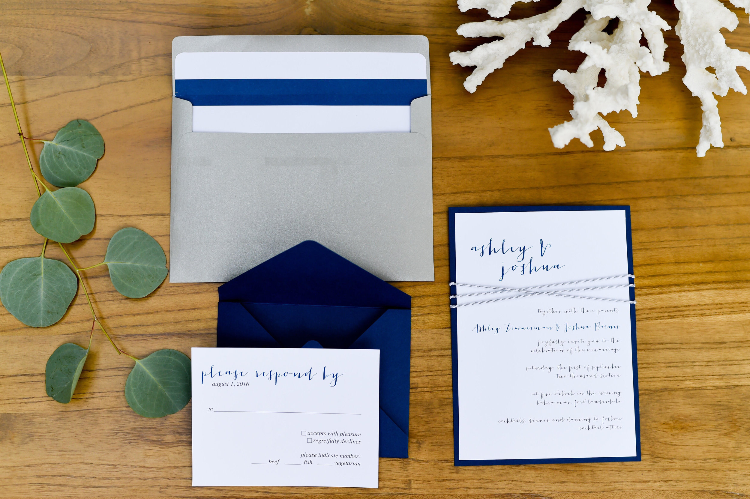 Keep it clean and simple.  Photo Credit:  Sweet Memories Photography   Stationery:  Simply Sianne