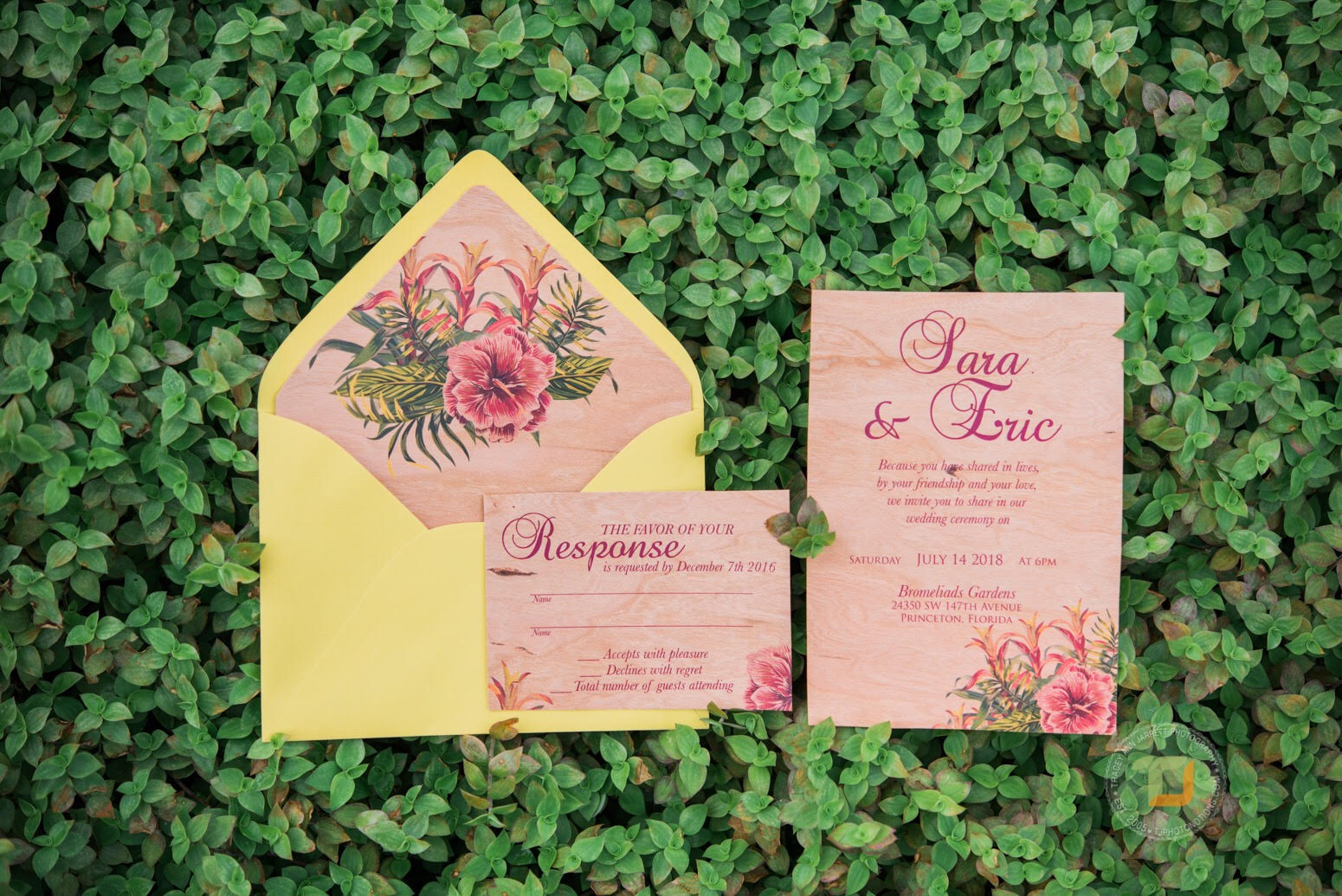 Or be very theme oriented.  Photo Credit:  Tracey and Martin Photography   Stationery:  Ink and Elegance