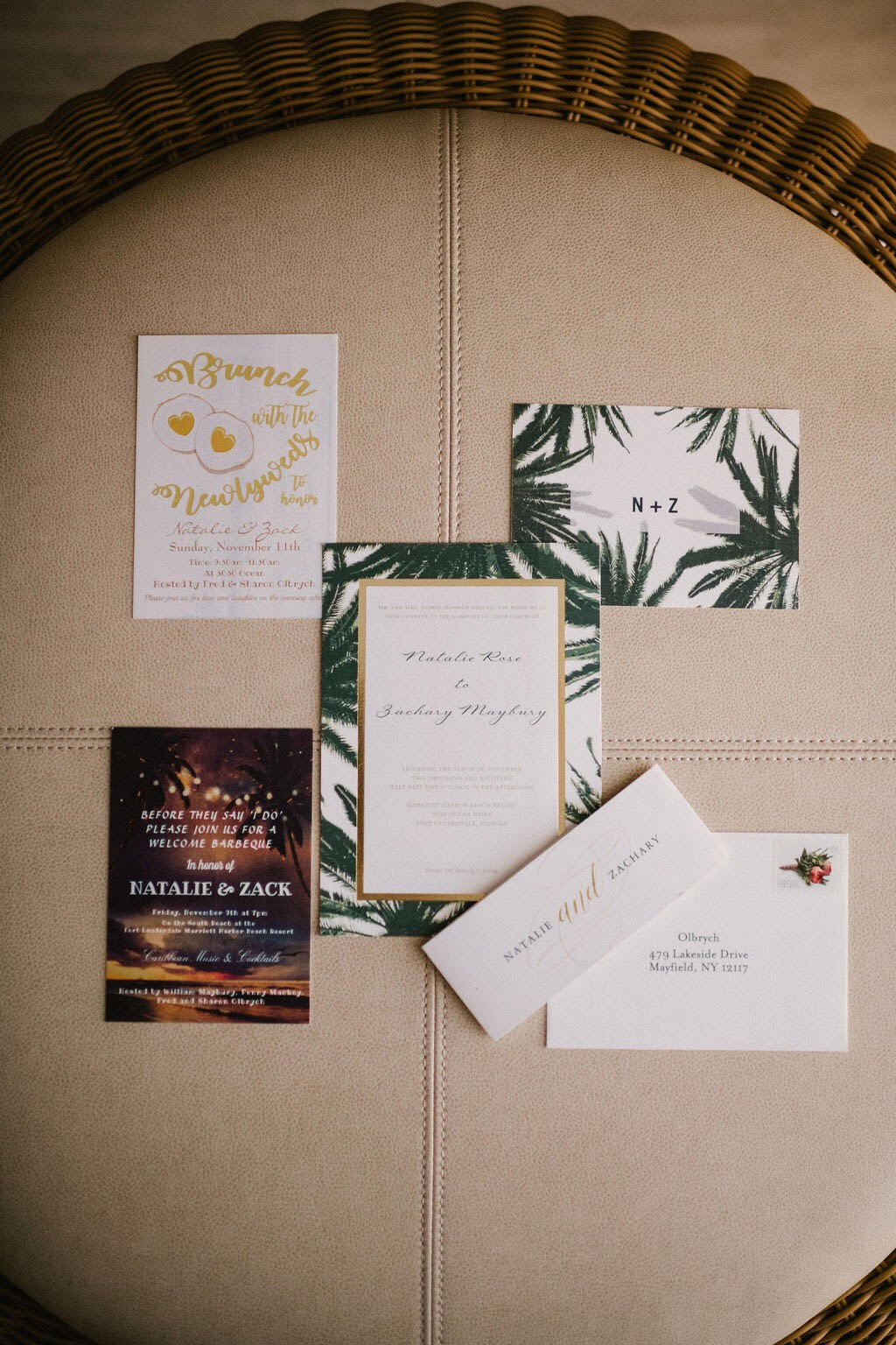 This invitation is full of all the bells and whistles.  Photo Credit:  Evan Rich Photography