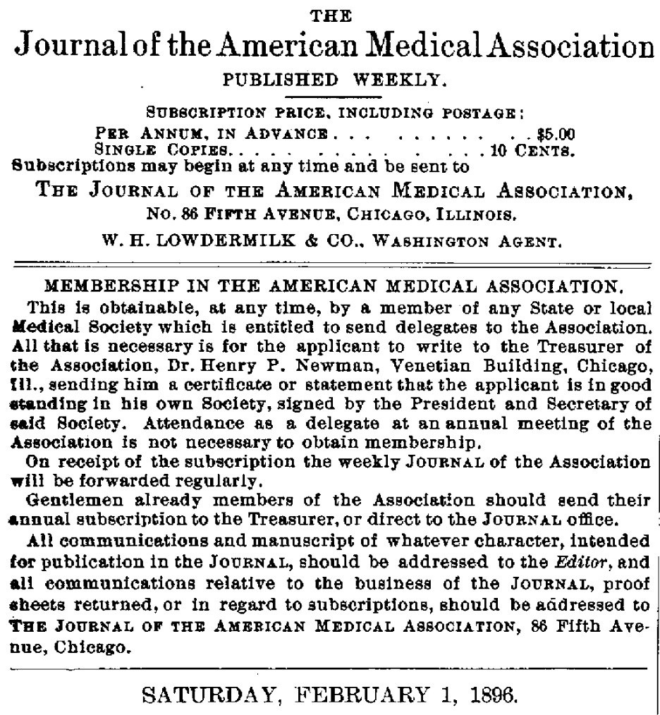 """Gentlemen already members of the Association should…"""