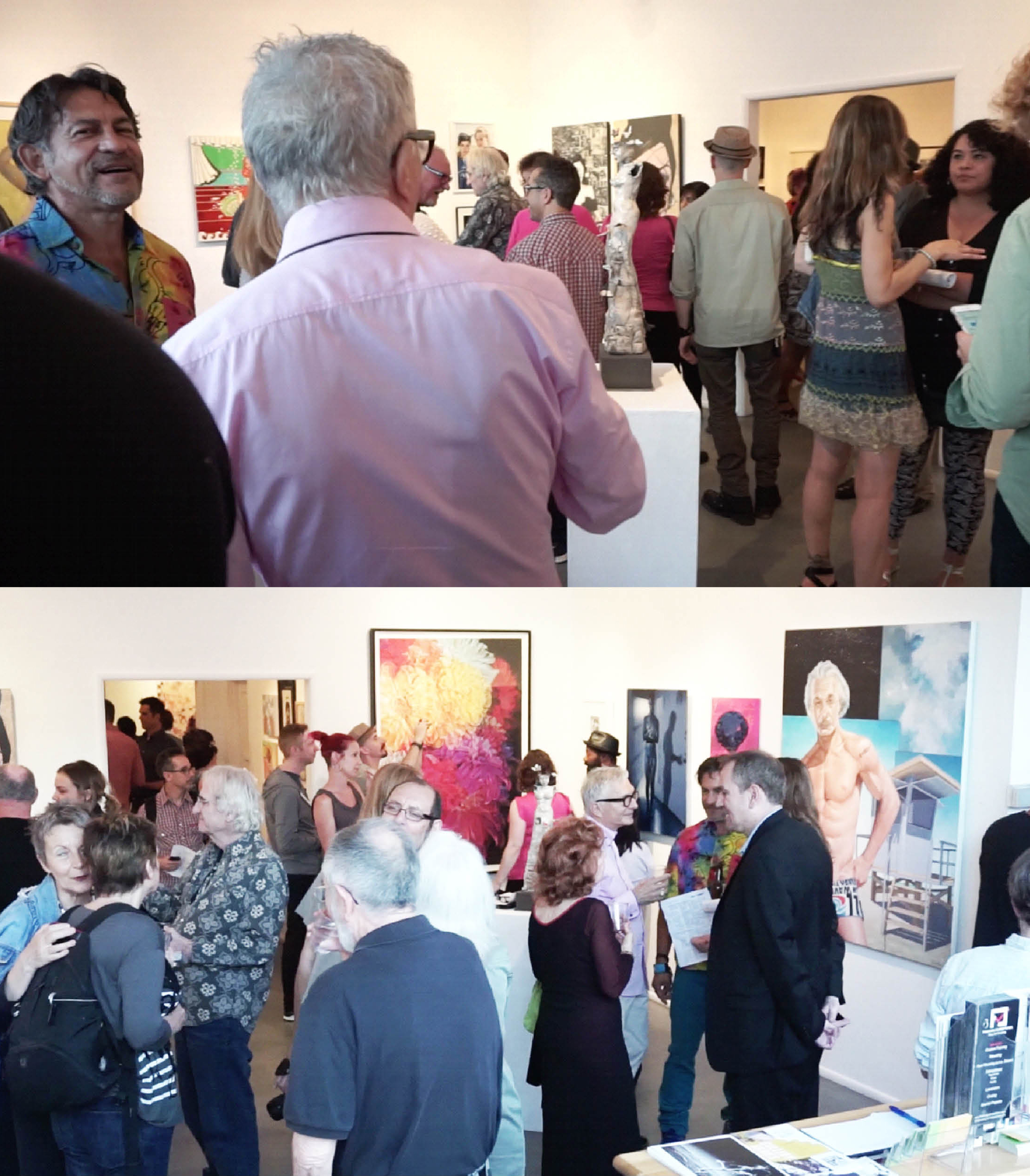 6-22-19 Out There exhibit at LA Art Association's Gallery 825, Opening reception, Photo by Mara Zaslov.jpg