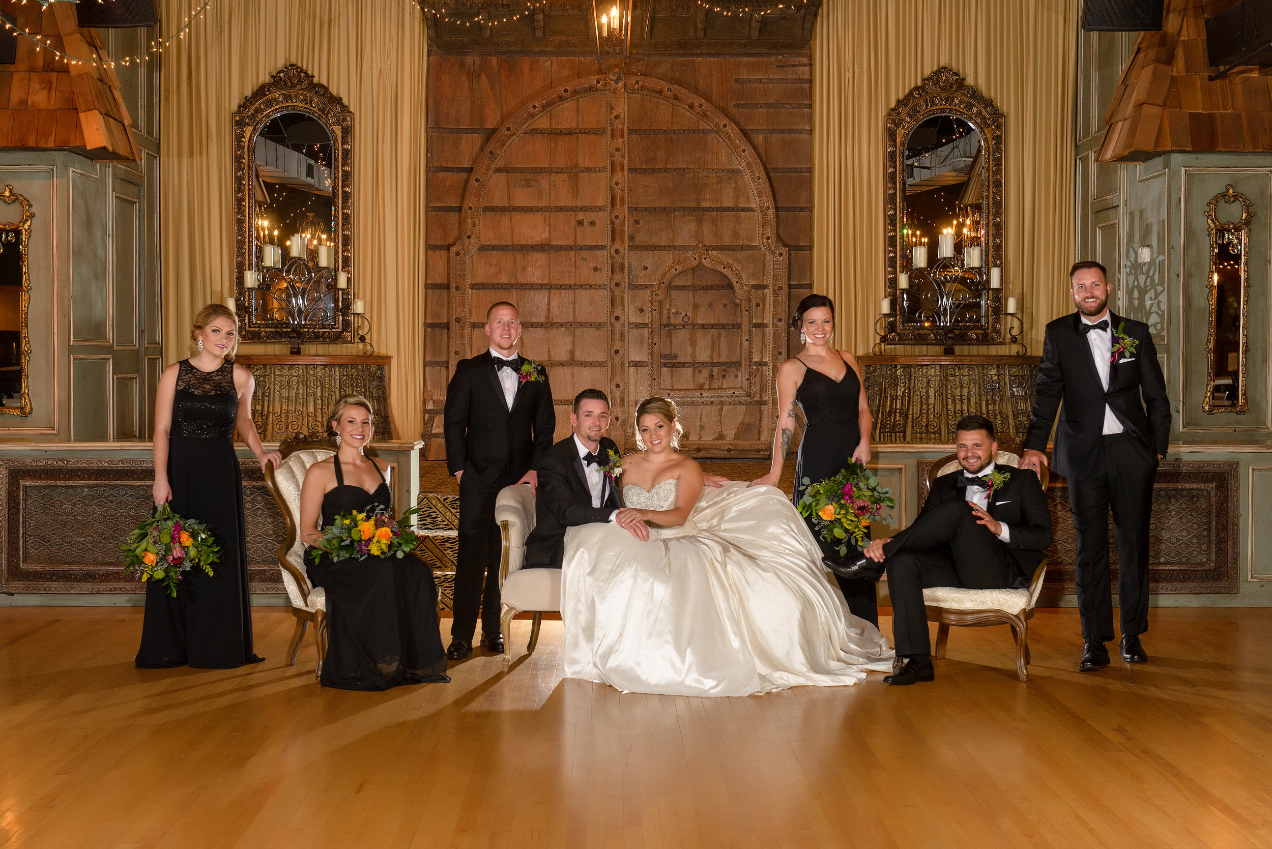 Photographer in OKC Bridal Party The Palace Event Center