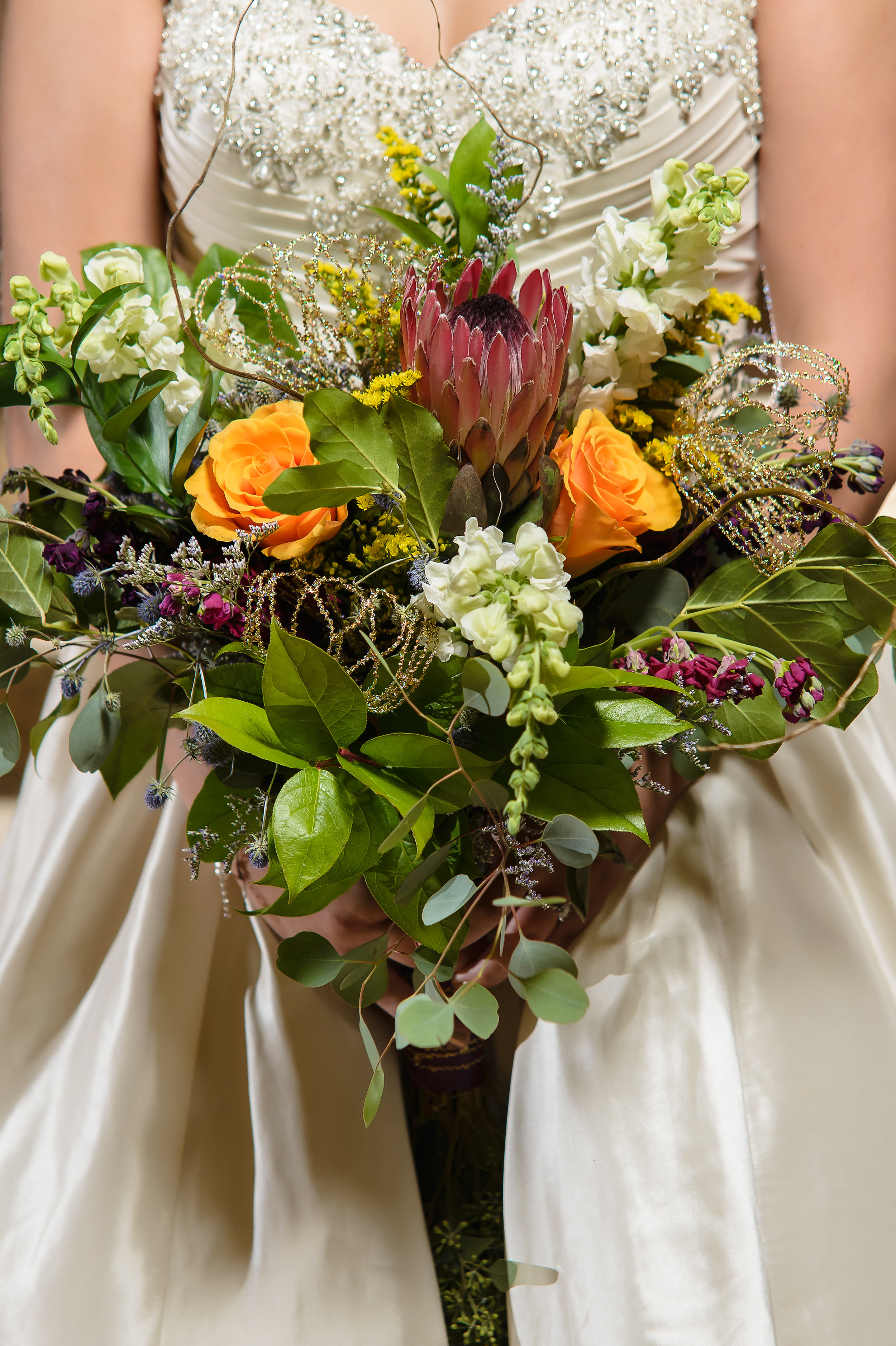 Photographer in OKC Bridal Bouquet Paisley and Peonies
