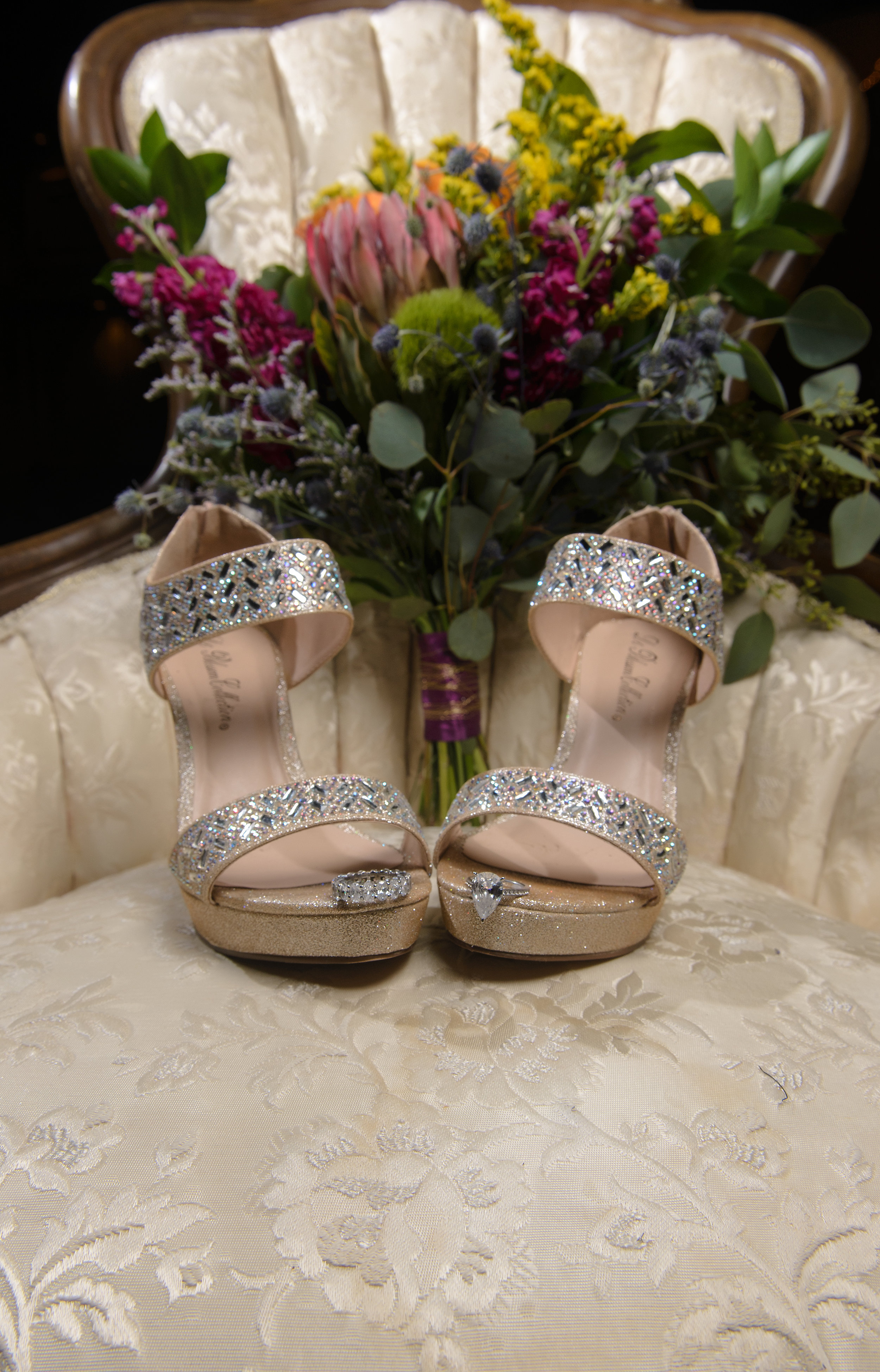Photographer in OKC wedding day details The Palace Event Center