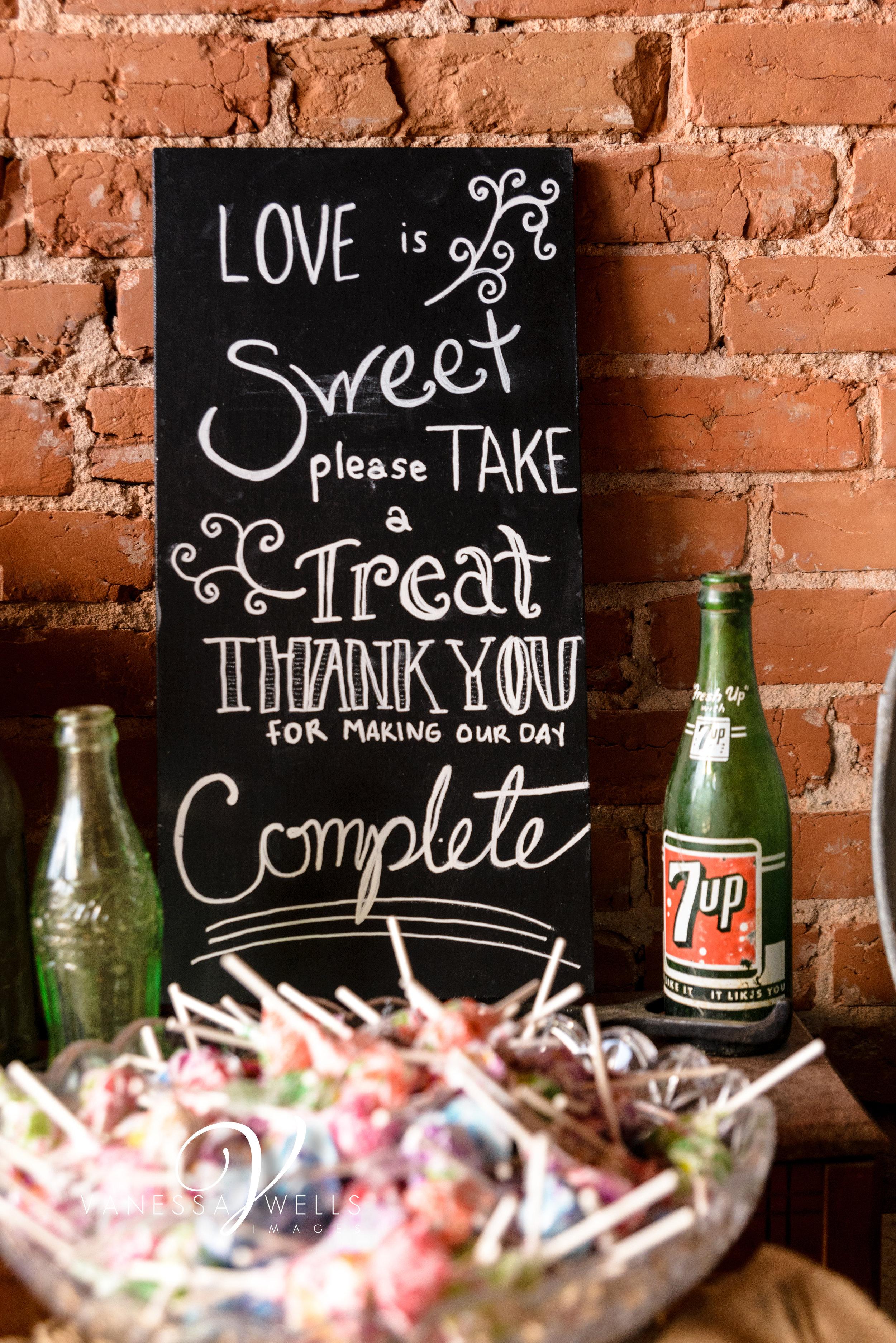 Destination Wedding Photographer Sand Plum in Guthrie OK Candy Bar