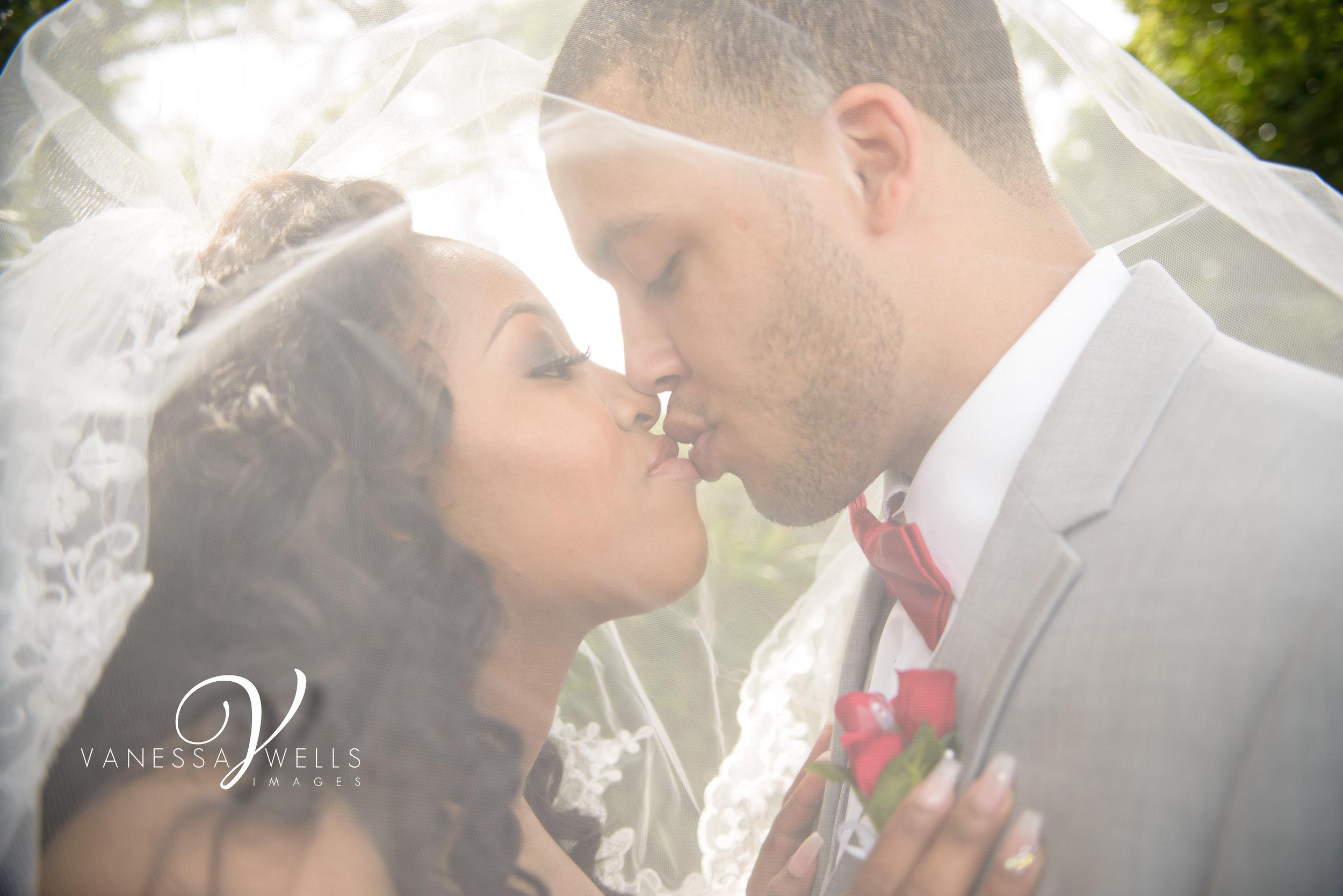 Bride and Groom Wedding Photographer in OKC Will Rogers Garden