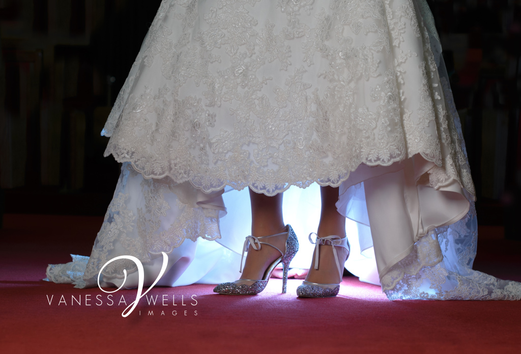 Wedding Photographer in OKC Bridal Portrait Betsy King Shoes