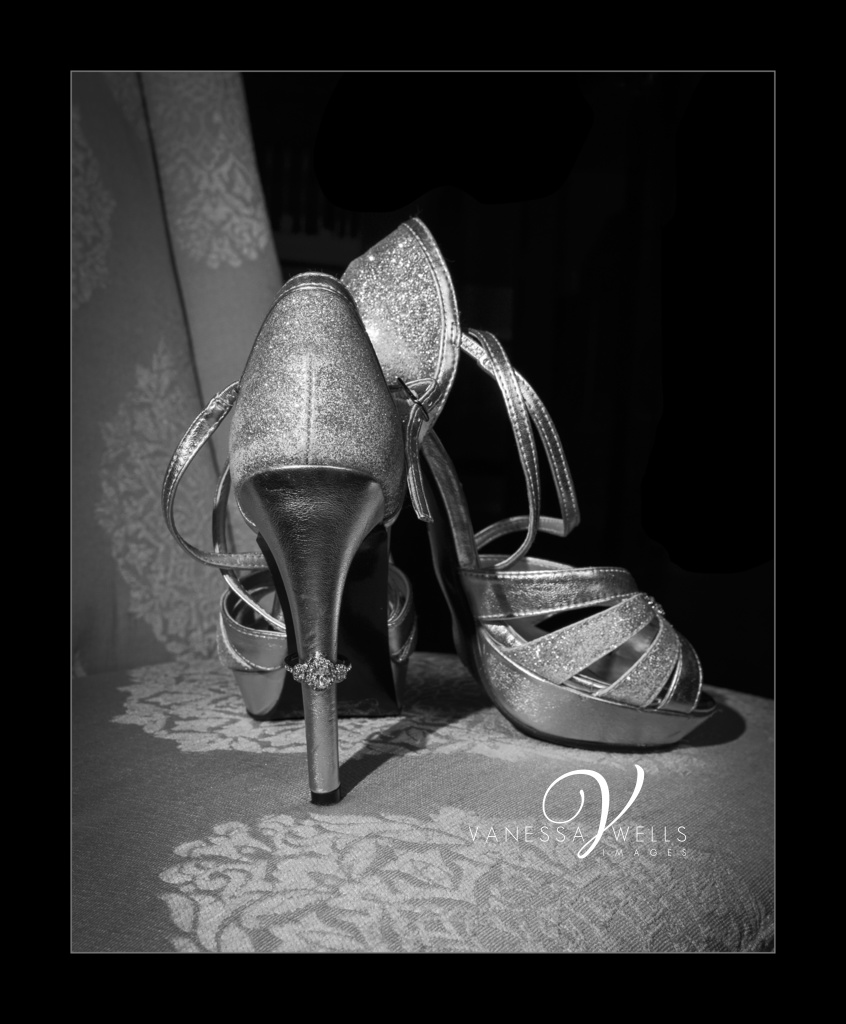 Ring shot with shoes, OKC wedding photographer, The Grand Canadian Theater, destination photographer
