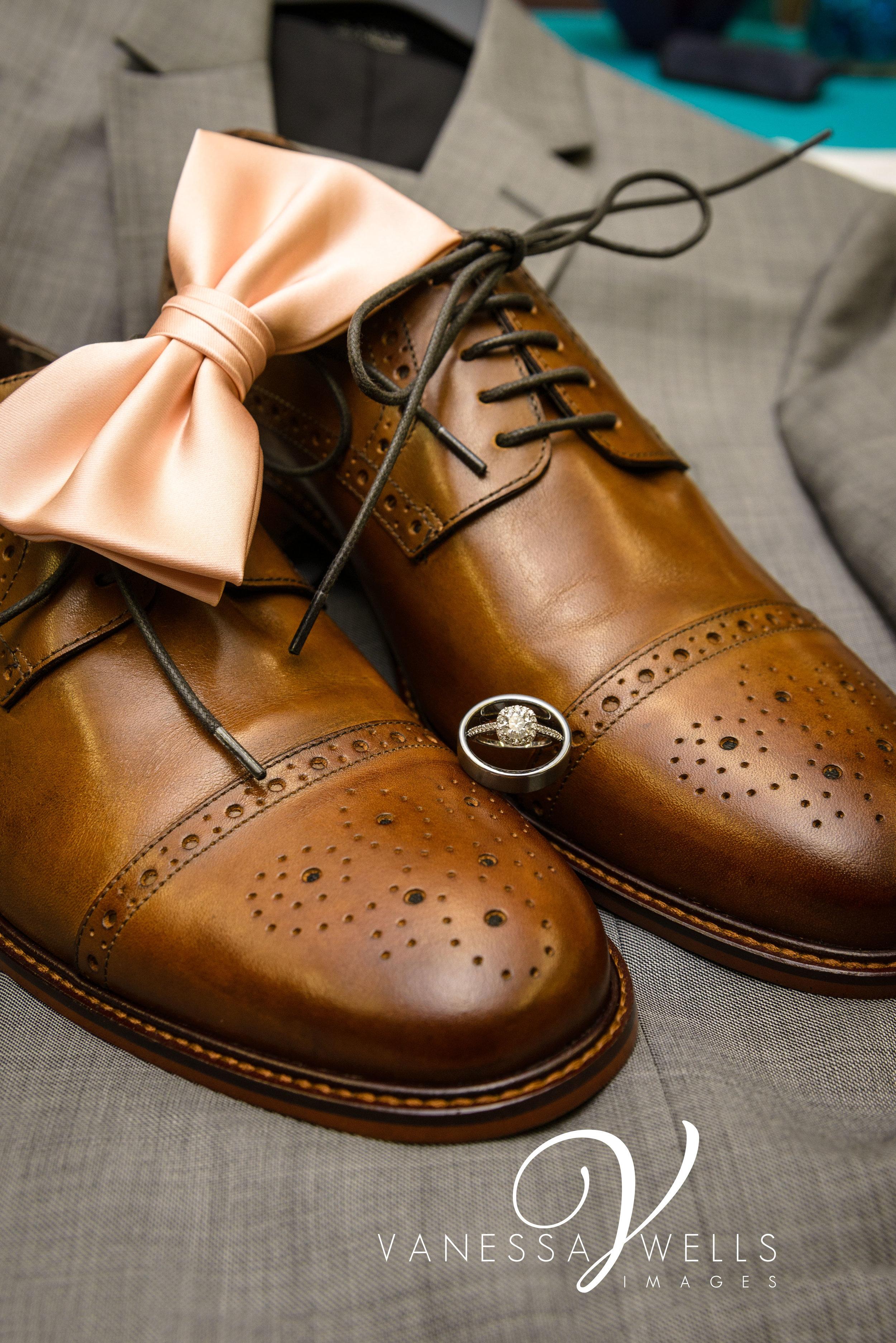 OKC Wedding Photographer, Ring Shot, Groom Details