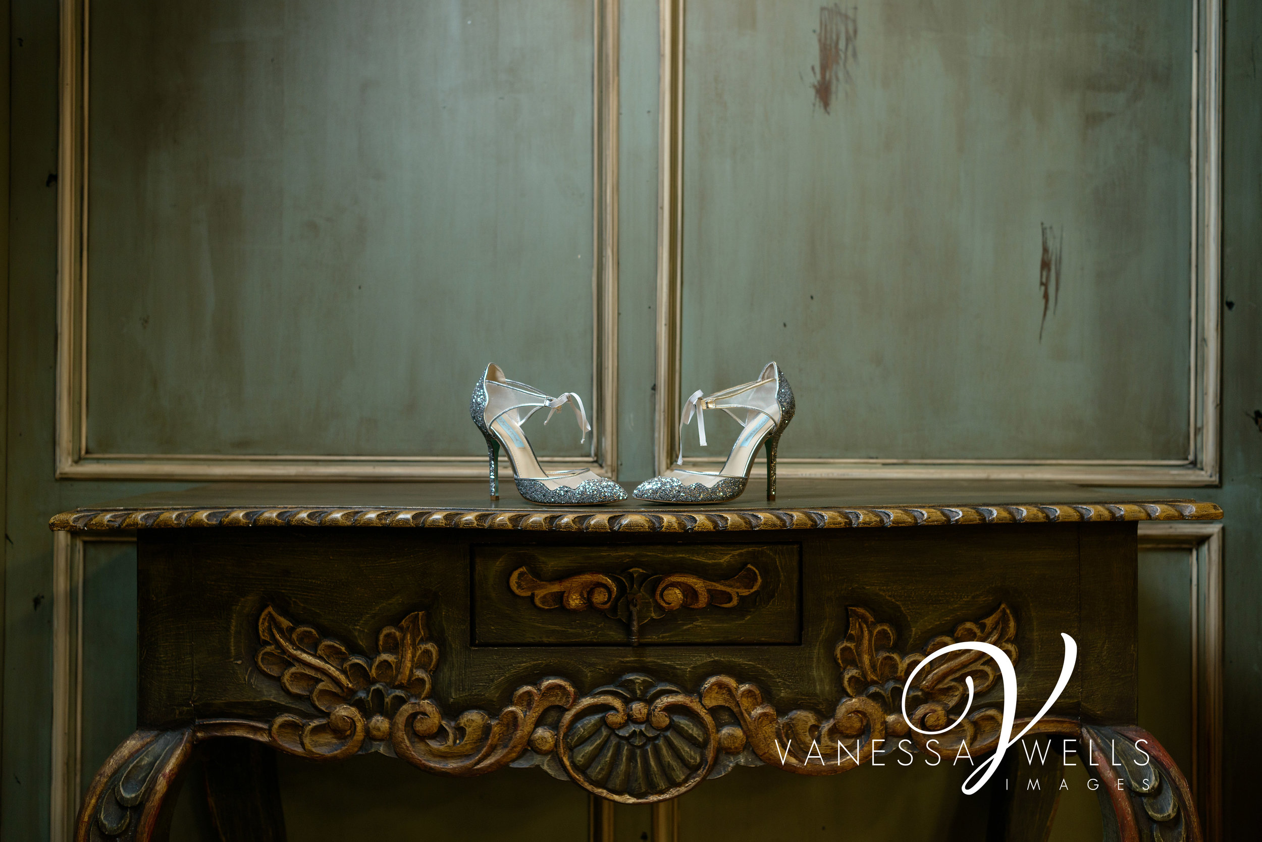 Betsy Johnson Shoes at The Palace Event Center, Okc Wedding Photographer