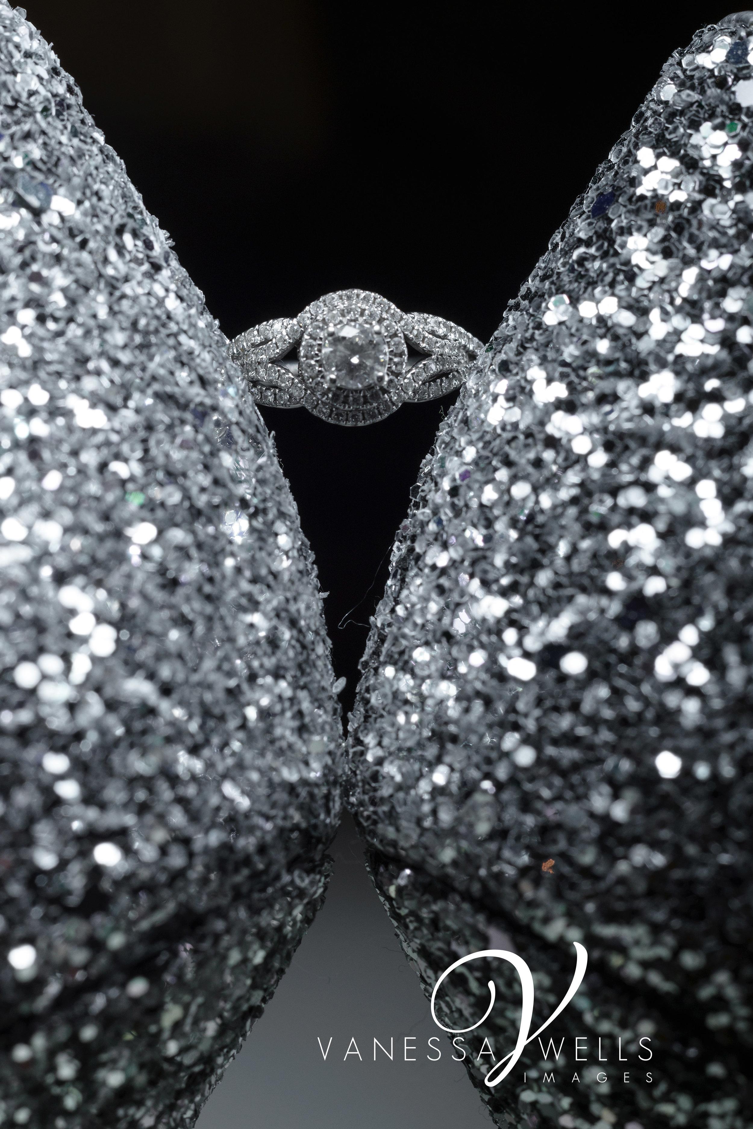 Betsy Johnson shoes, Ring Shot, OKC Wedding Photographer