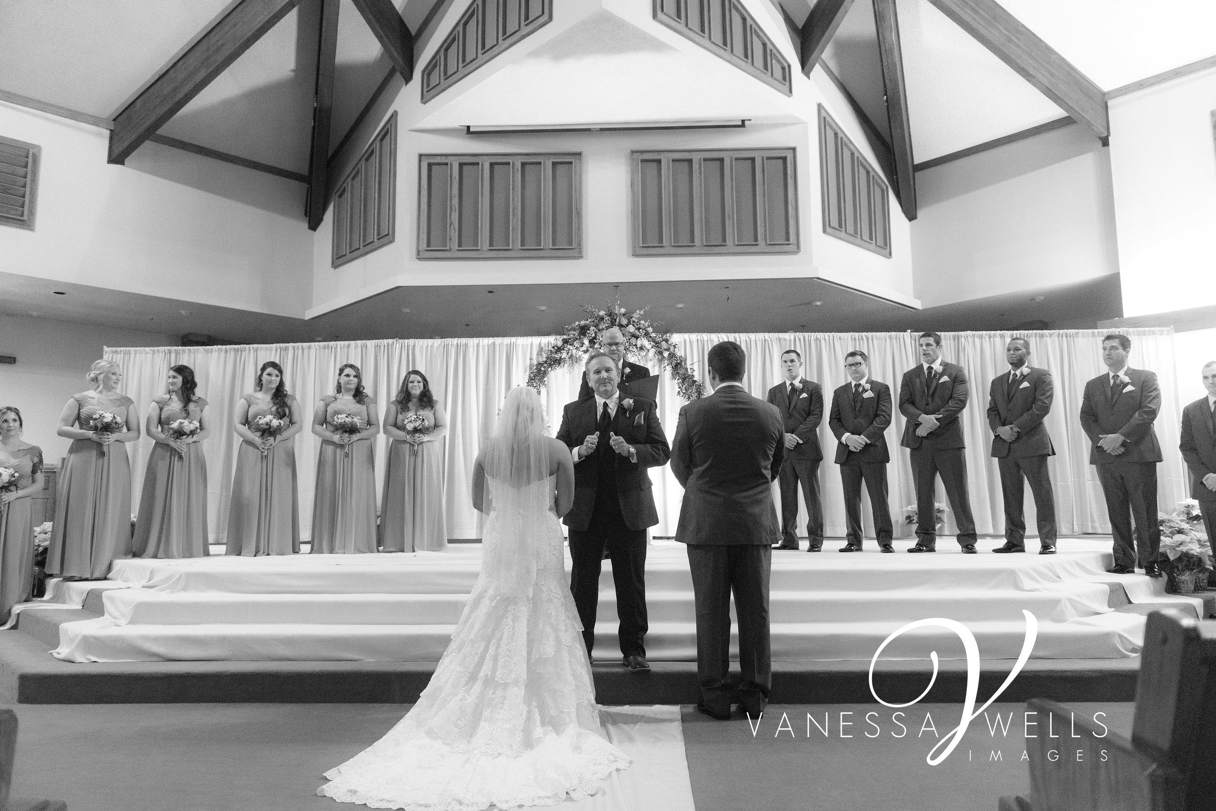 OKC Wedding Photographer, Town & Country Christian Church
