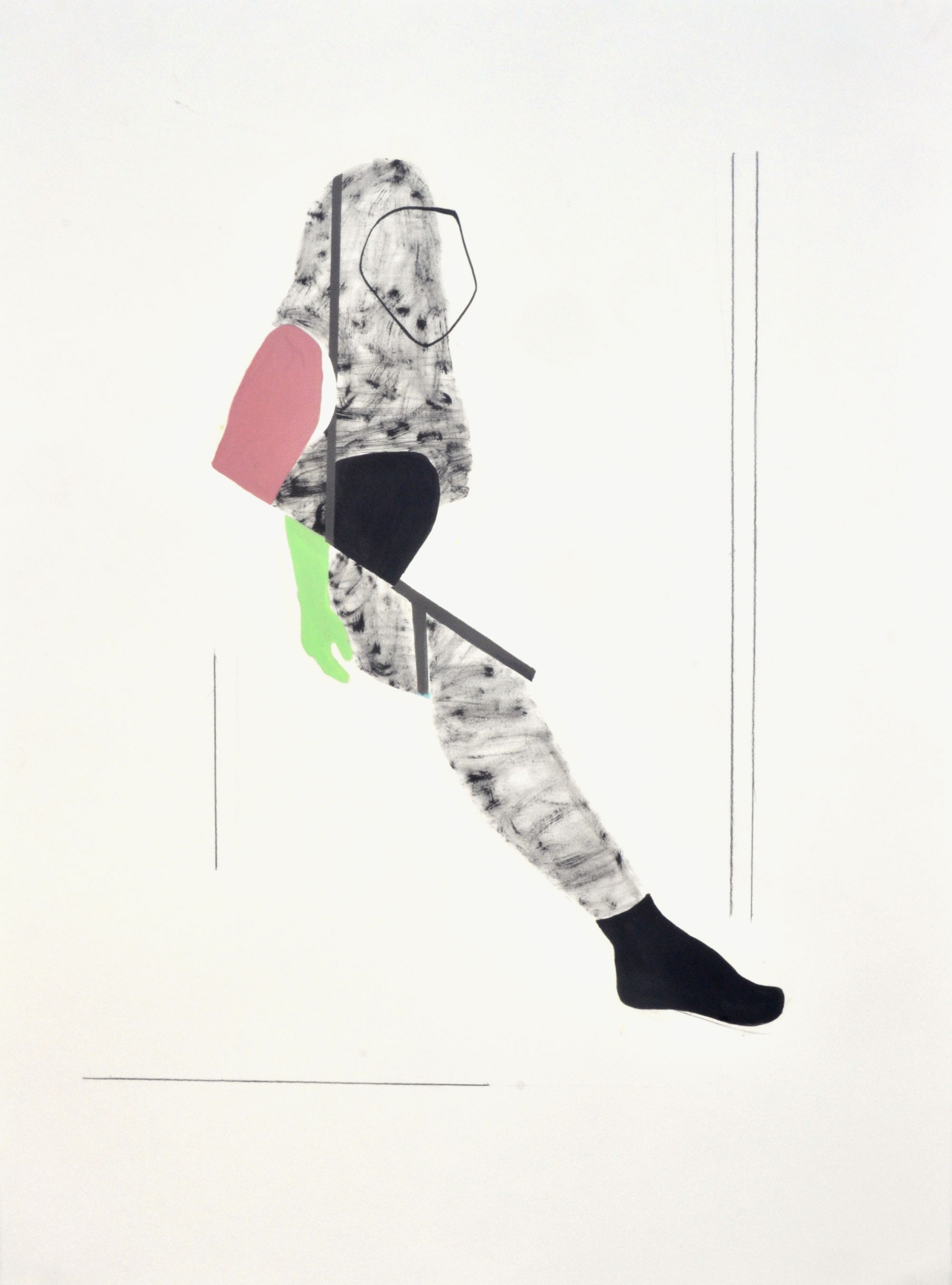 """2014, Acrylic, ink, graphite on paper 22"""" x 30"""""""