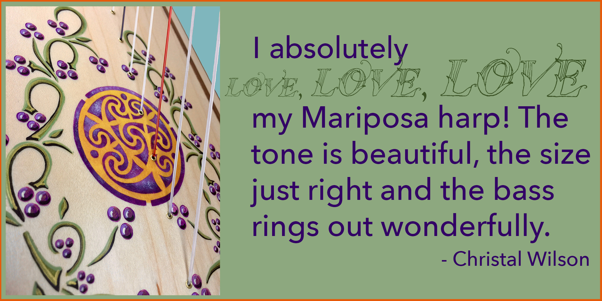 Mariposa Harp and Christal Wilson