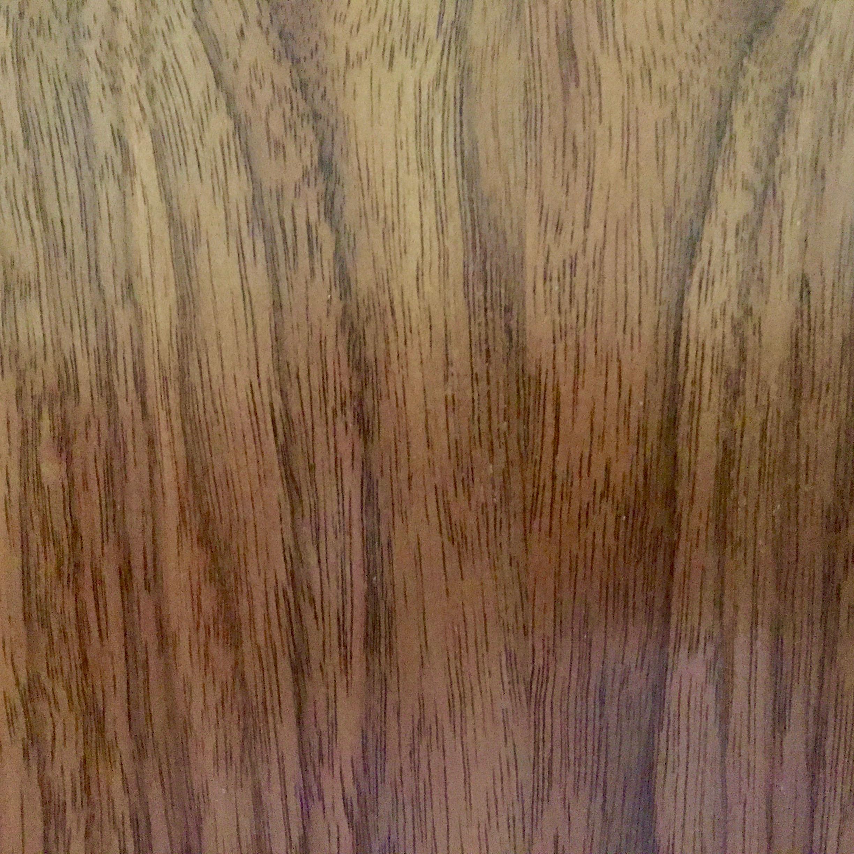 The beautiful grain of walnut.