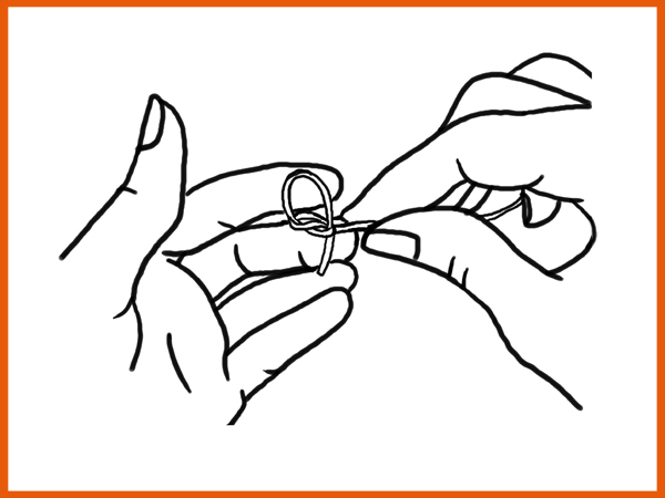 Tying a Harp Knot Step E - For Strings .036 Gauge and Below Make Sure There is Still Space in the First Loop (for larger strings skip to Step G)