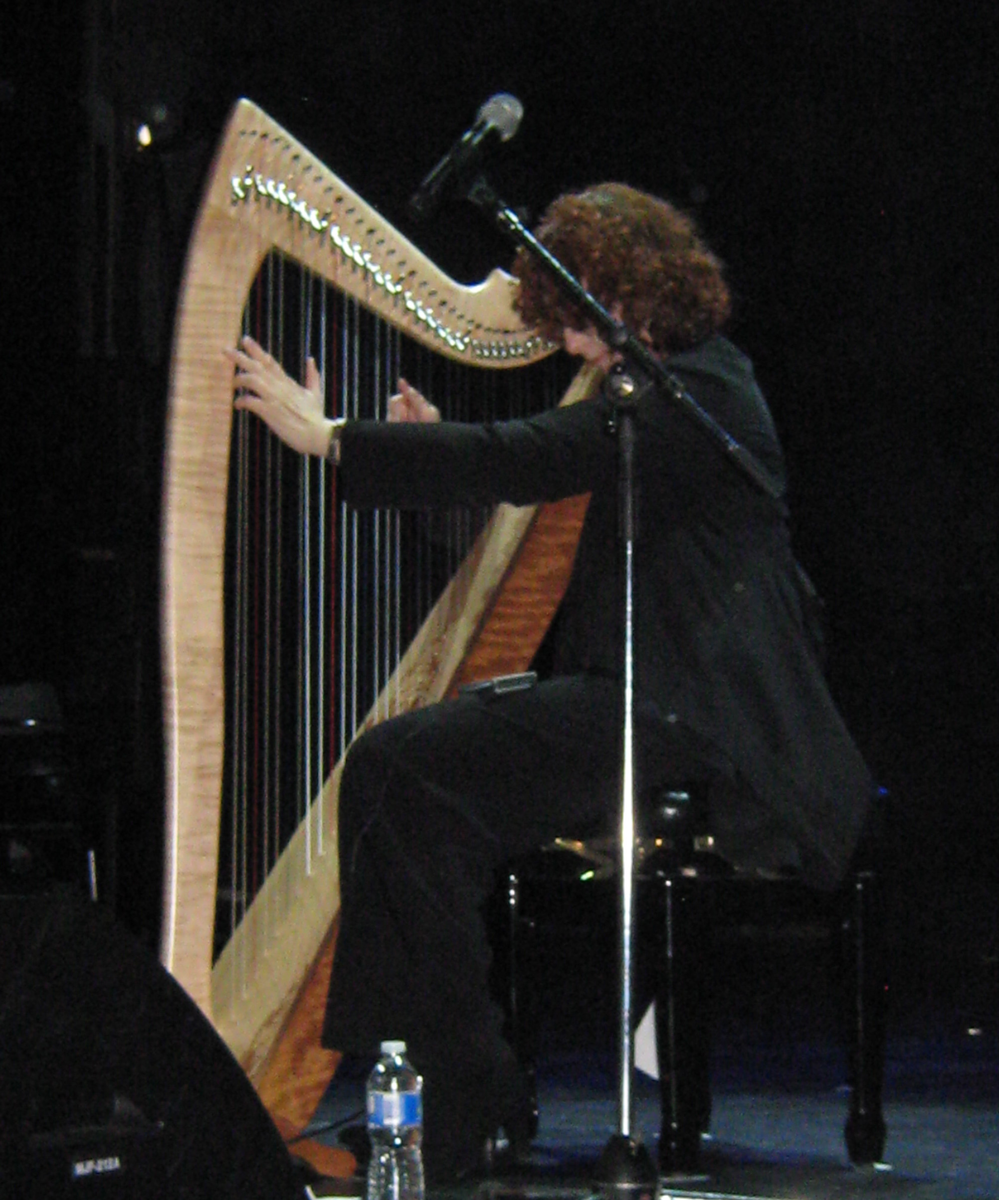 Máire Ní Chathasaigh and her A to A Aberdeen Meadows Harp.