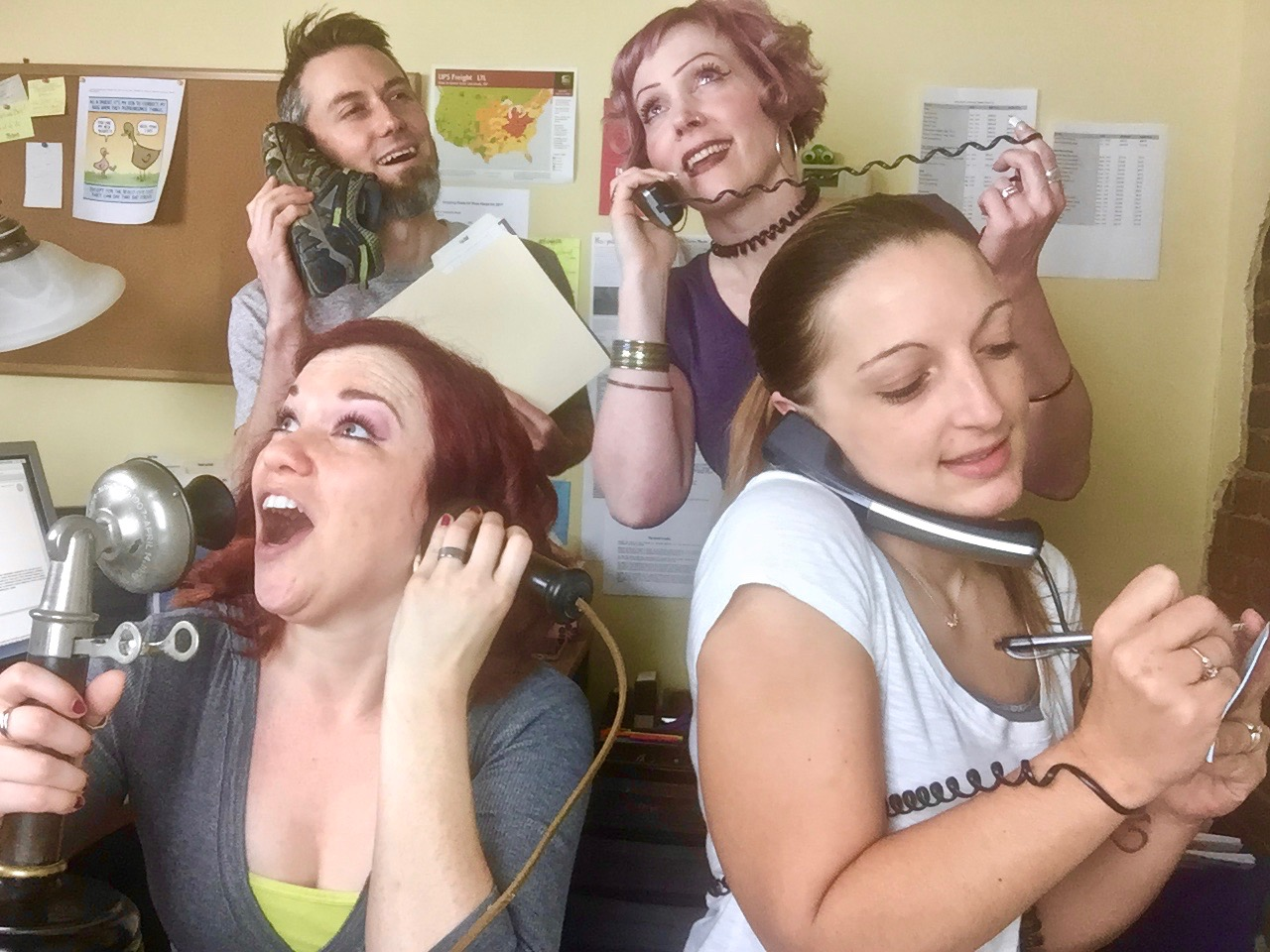 (Clockwise) Garen Rees, Rebecca Brown, Ashley Rohrbach and Melissa Irwin. These are the highly skilled Rees Harps professionals who answer your calls and emails.