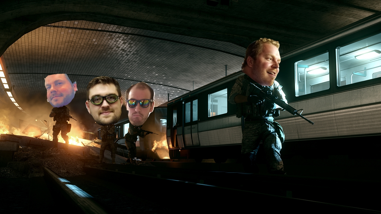 Dale, Adam, and Patrick led by Ship Master Dale Leaving the Midnight Meat train.