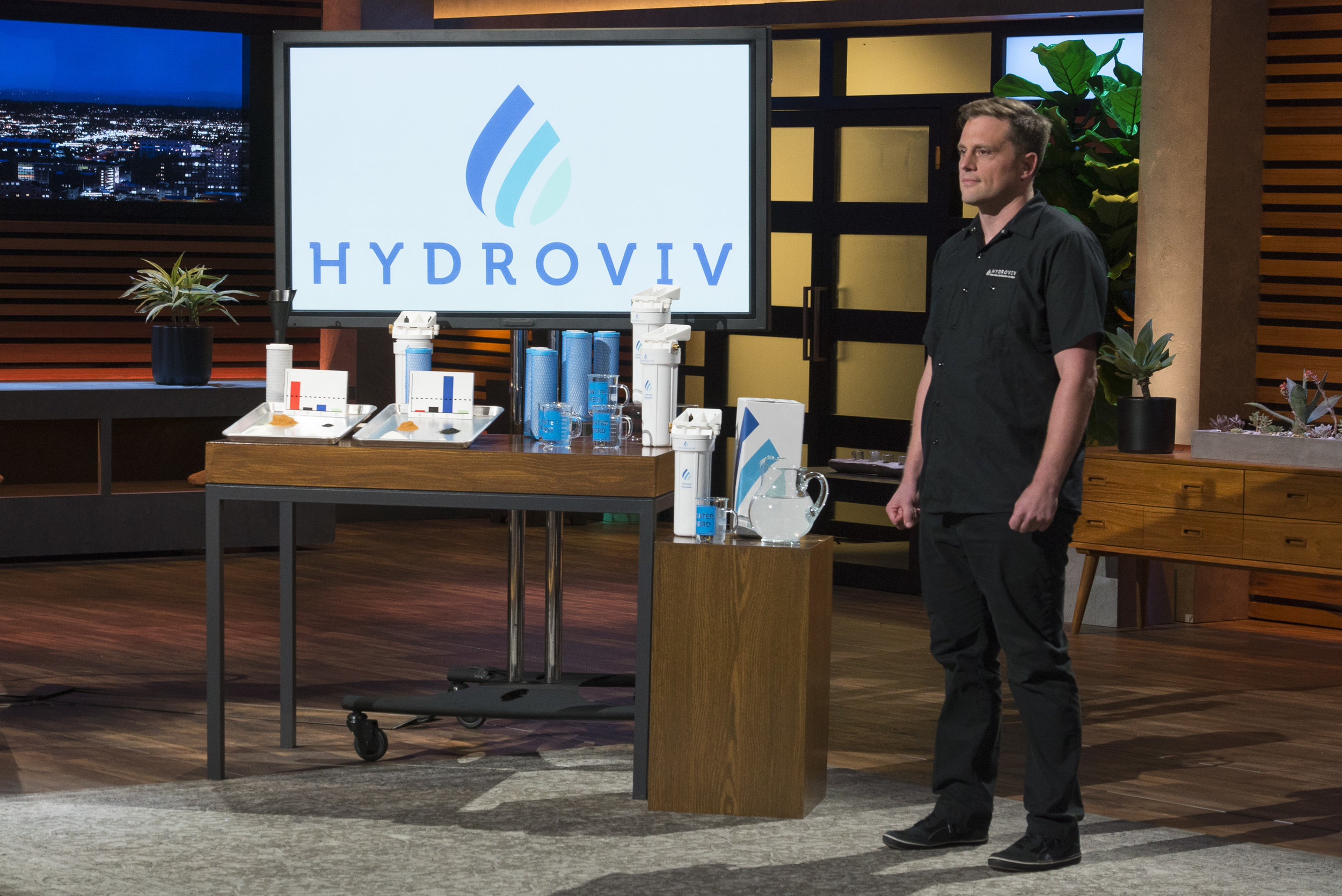 Eric Roy pitches Hydroviv on Shark Tank, image courtesy of ABC.