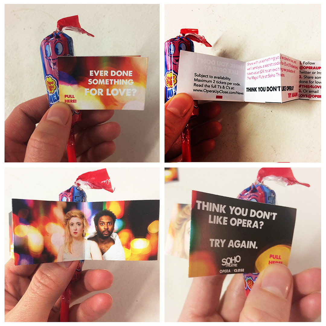 Melody Pops with promotional text attachment
