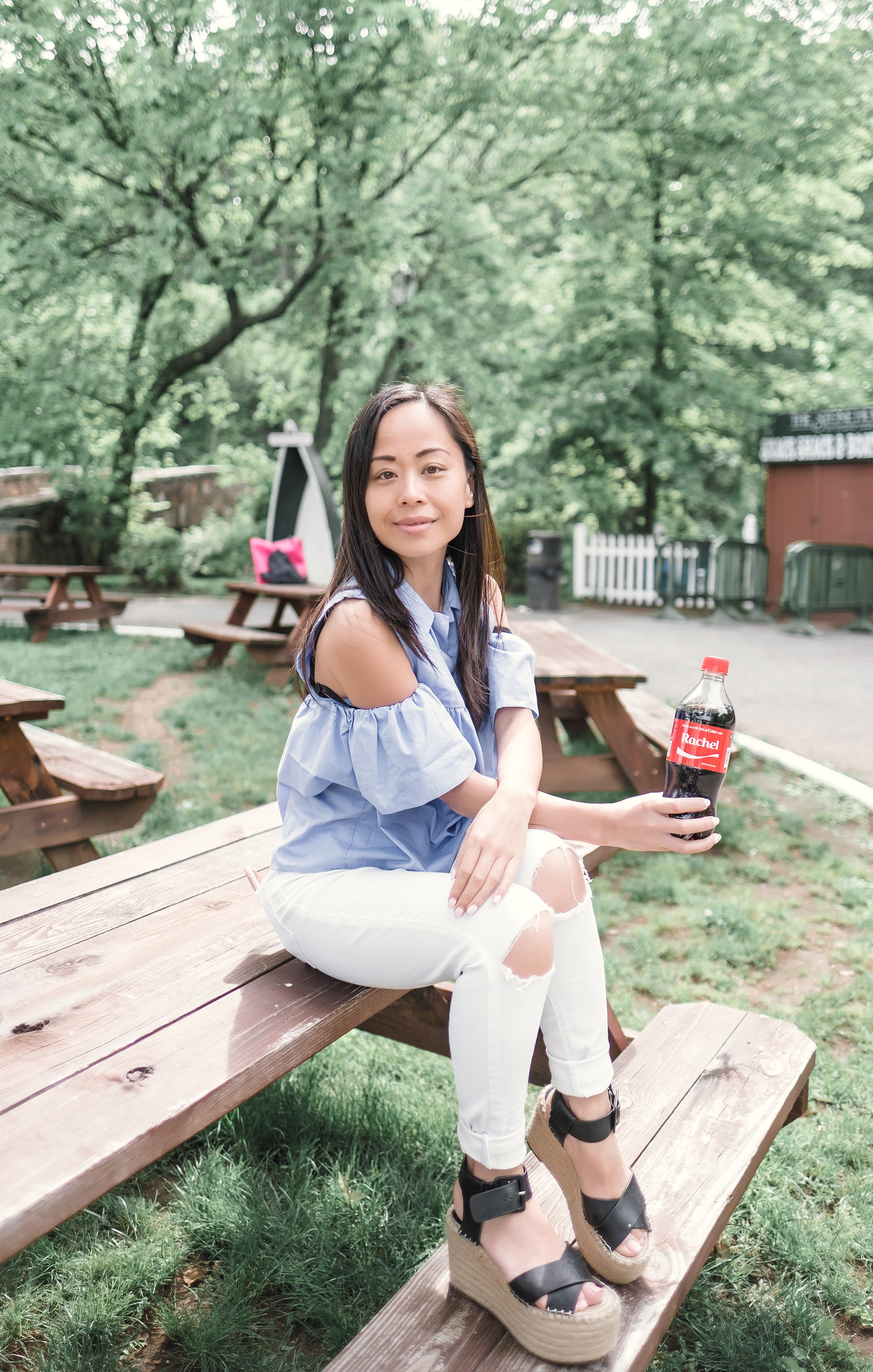 At  Cloves Lakes Park  and enjoying a beautiful day. Remember when  Coke  had those names on those bottles? I found one!