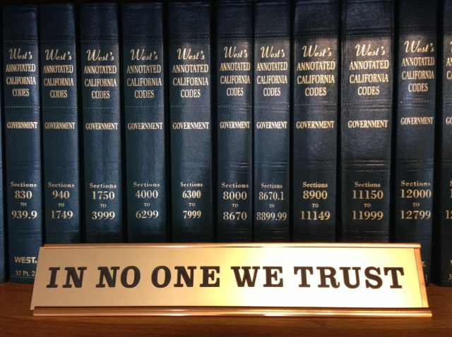 in no one we trust