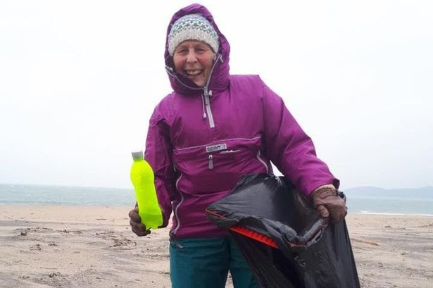 Elsa Tranter was inspired by Pat Smith, 70, of Cornwall, England, who achieved her New Year's resolution and did 52 beach cleanups in 2018. She is founder of the Last Straw anti-plastics campaign.