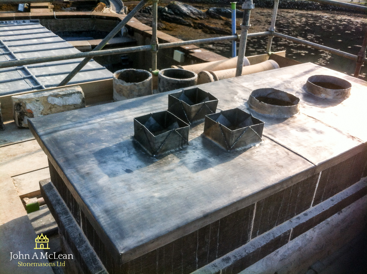 Chimney head lead works