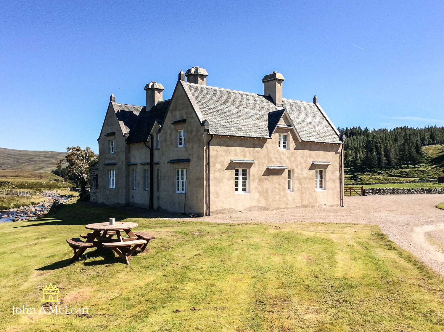 Gobernuisgach Lodge Altnaharra - limeworks & chimney replacement