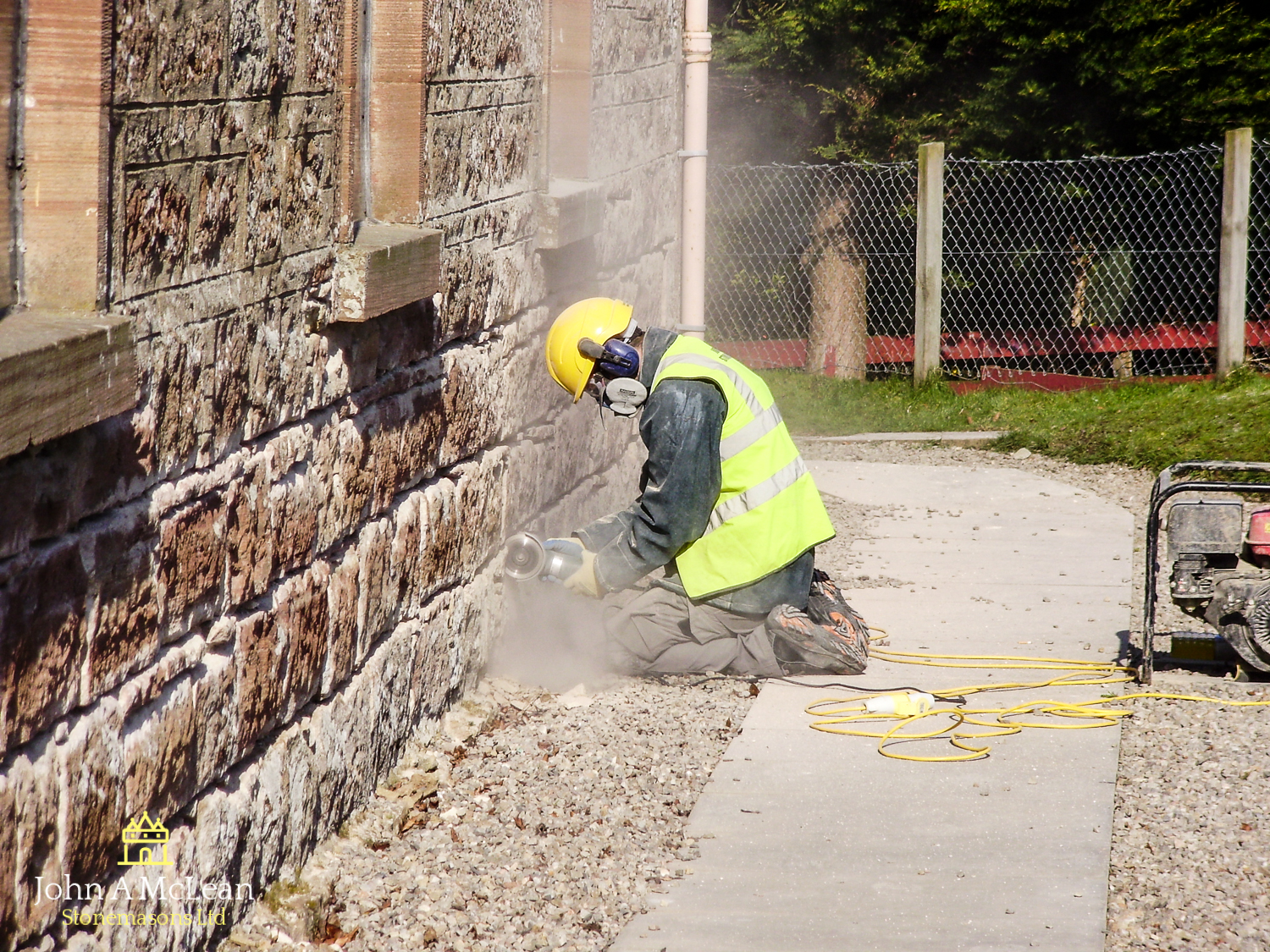 Alness Church - repointing exercise