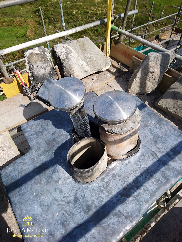 Gobernuisgach Lodge Altnaharra - chimney replacement