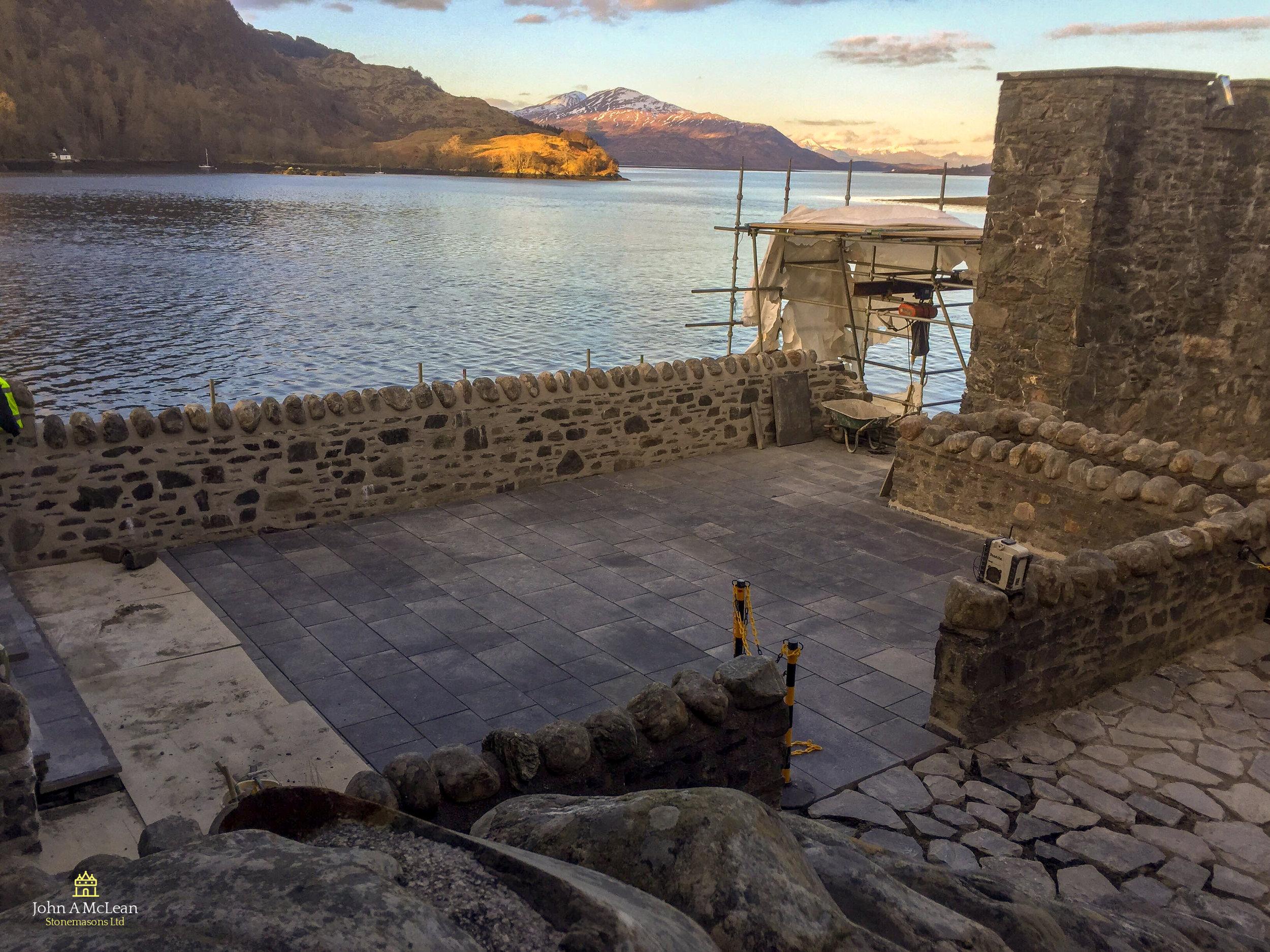 Eilean Donan Castle courtyard