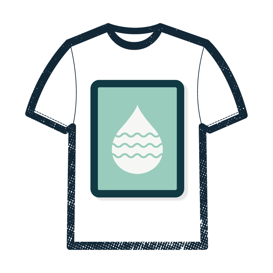 """PRINTING - The screen printing process hasn't changed much over the years, but it has improved in the age of automation! We still pull squeegees over your """"burned"""" screens to transfter the ink onto your preferred garment."""