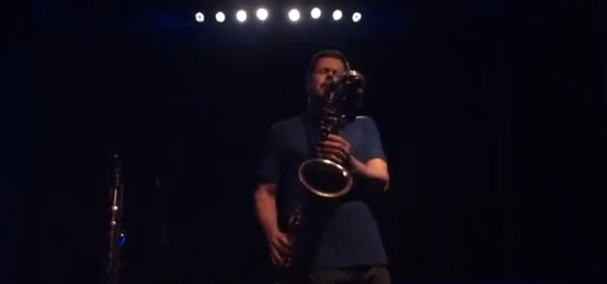 Ken Vandermark Solo   Image from an improv.hu video