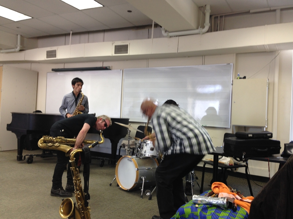 Williiams during a master class at Roosevelt University