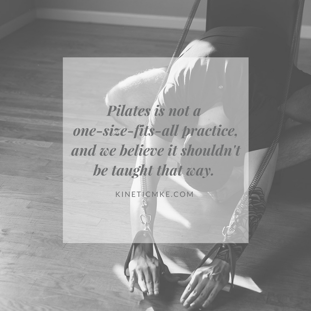 Mr. Pilates - and the students who carried out his legacy - ran their studios in the model of the same Semi-Private Pilates Group Classes that we are offering at  Kinetic MKE .