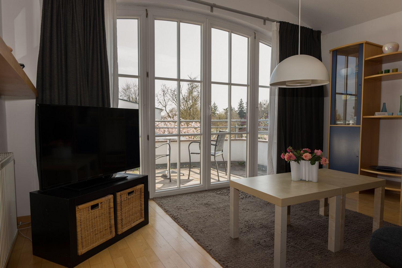 Apartment, Zimmer, Wohnzimmer, Balkon, Terrasse