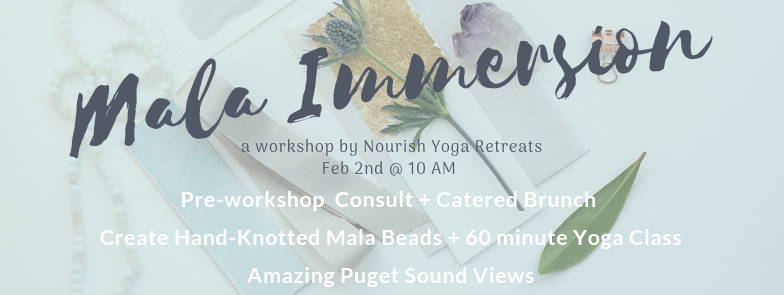 Our popular MALA workshop returns in February :: Creativity + Brunch + Meditation + Yoga :: Space is limited to 6 attendees, so  reserve your spot  now.