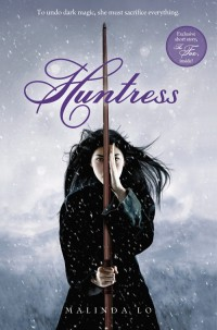 "Paperback cover for the novel ""Huntress"" by Malinda Lo"