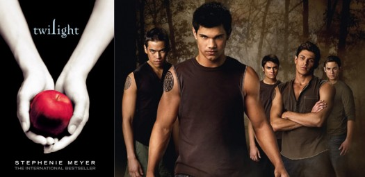 Taylor Lautner as Jacob Black, and other actors portraying Quileutes in the Twilight movies