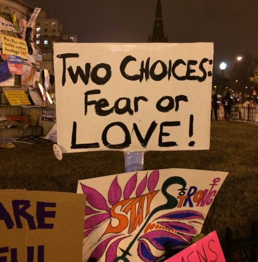 Two choices: Fear or Love!