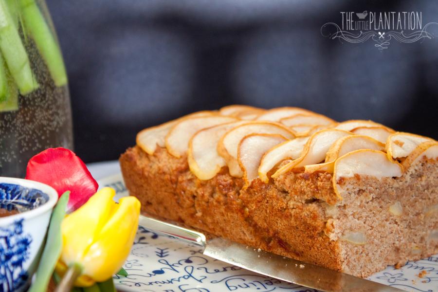 Vegan Pear Cake - The Little Plantation