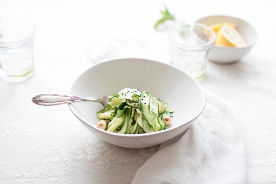 Vegan Courgette Salad - The Little Plantation