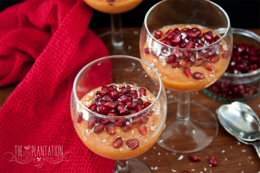 vegan papaya mousse recipe - The Little Plantation