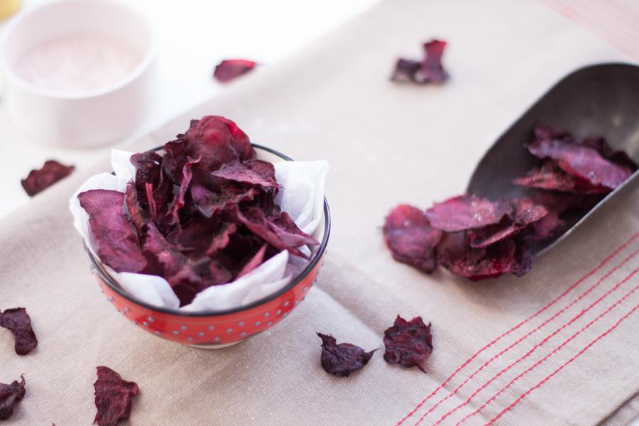 vegan beetroot crisps/chips - The Little Plantation