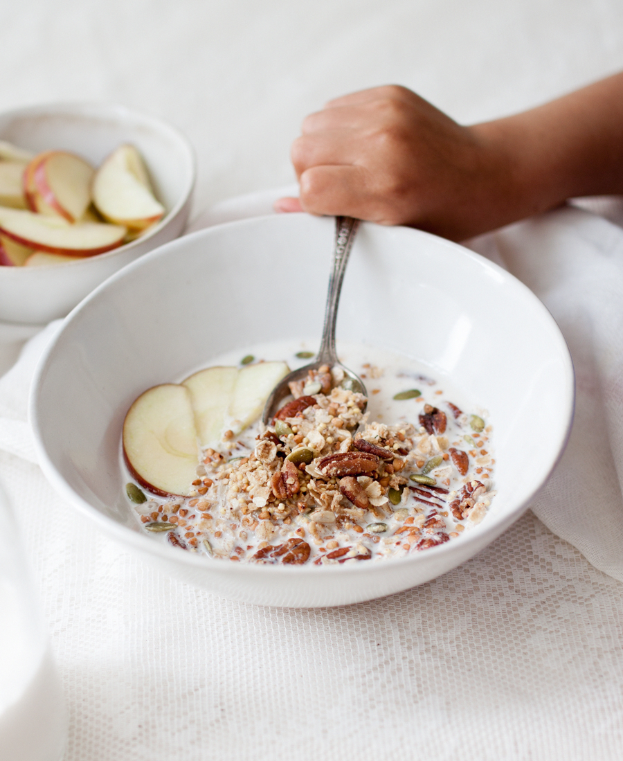 vegan granola and seed milk recipe - The Little Plantation